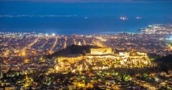 Athens Cityscape,Acropolis at Night
