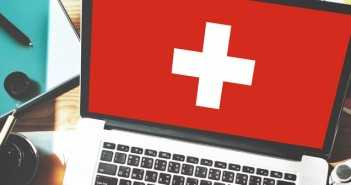 Switzerland National Flag Business Communication Connection Concept