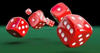 classic casino dice 3d rendering image