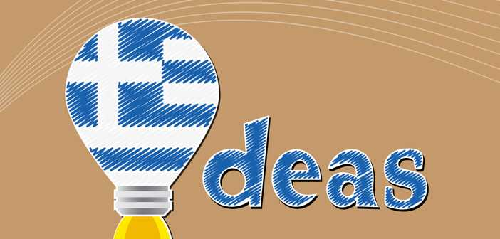 Idea concept  made from the flag of Greece, conceptual vector illustration