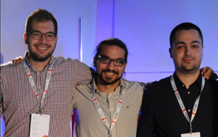 Η ομάδα hopwave, από αριστερά προς τα δεξιά: Βασίλης Αρκομάνης, CFO, Γιώργος Πιλπιλίδης, CEO, Γιώργος Σιάτρας, CTO.