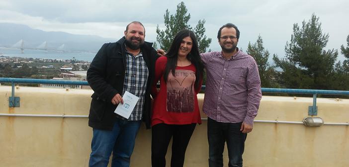 Η ομάδα Insybio Ltd., από αριστερά προς τα δεξιά: Χρήστος Αλεξάκος, COO, Αίγλη Κορφιάτη, Product Development Manager και Κωνσταντίνος Θεοφιλάτος, Technical Sales Manager.