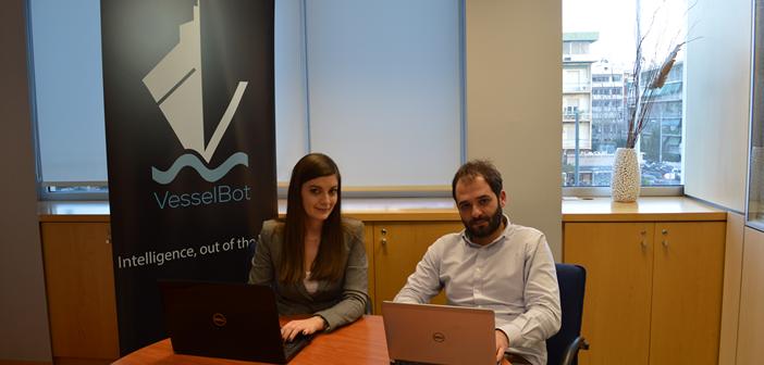 Η ομάδα VesselBot, από αριστερά προς τα δεξιά: Αθανασία Παναγιωτοπούλου Co-Founder /CMO και Κωνσταντίνος Κωμοδρόμος, Co-Founder /CEO.