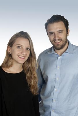Η ομάδα Workathlon, από αριστερά προς τα δεξιά: Κατερίνα Σαντίκου, Managing Director και Κωνσταντίνος Σαντίκος, Sales.